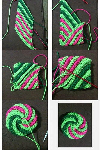 Video Tutorial] Super Easy Super Fun Spiral Crochet Scrubbies Unique Crochet Spiral Scrubbies Pattern