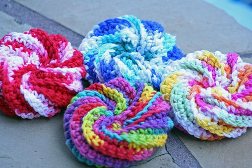 Video Tutorial] Super Easy Super Fun Spiral Crochet Scrubbies Inspiration Crochet Spiral Scrubbies Pattern