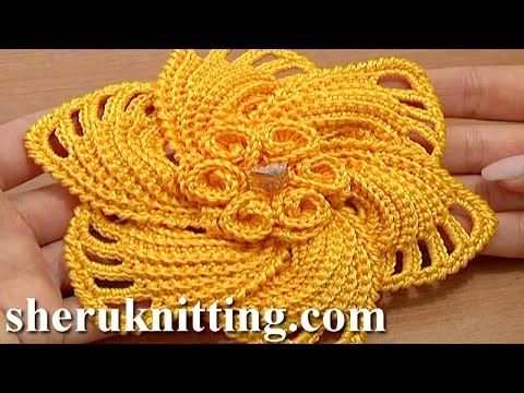 Crochet Daily : ... Flower That Has Little Spirals In The Center - Knit And Crochet Daily