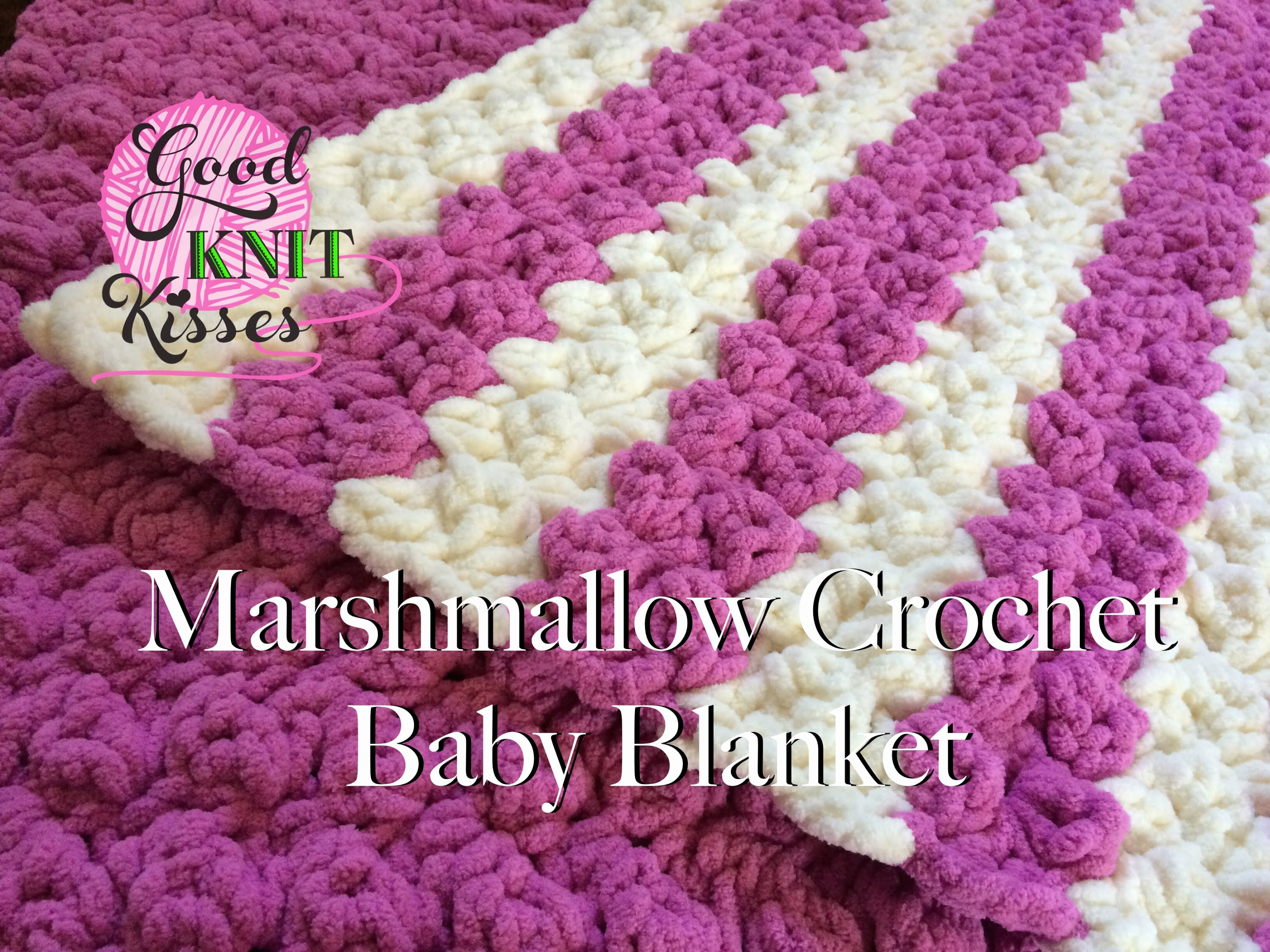 Video tutorial striped marshmallow crochet baby blanket video tutorial this striped marshmallow crochet baby blanket steals your heart in a moment bankloansurffo Images