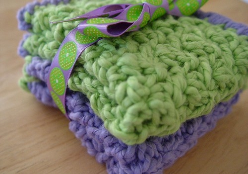 You Will Love The Softness Of These Cute Baby Washcloths Knit And