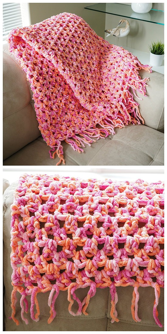 Free Pattern This Crochet Blanket Is So Cozy, You May ...