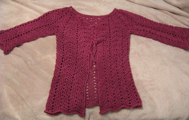 Chevron Lace Cardigan by milobo 1