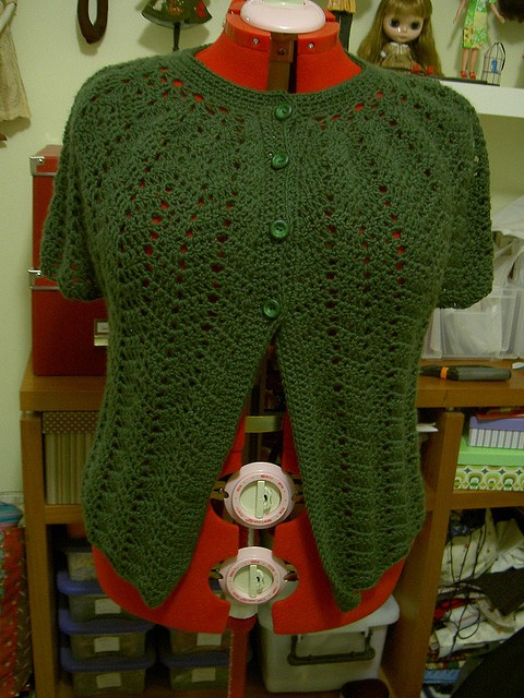 Free Pattern This Gorgeous Chevron Lace Cardigan Is Worked From The