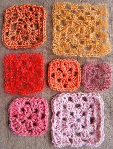 Knitted Granny Square Patterns : [Free Pattern] Have A Fun Time Inventing Each Unique Square Using This Classi...