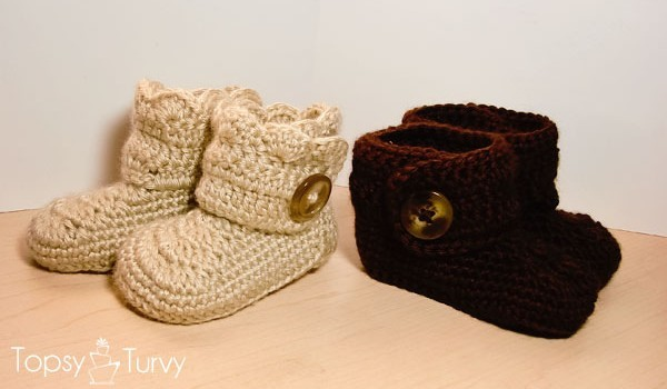 Free Pattern The Cutest Baby Booties Ever Ahhh So Cute Knit And
