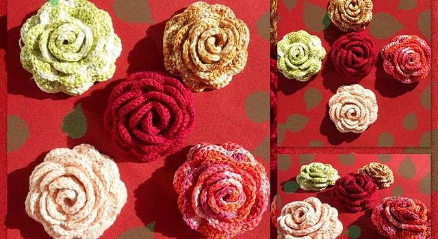 Free Pattern In Full Bloom Crochet Rose Brooch Knit And Crochet Daily