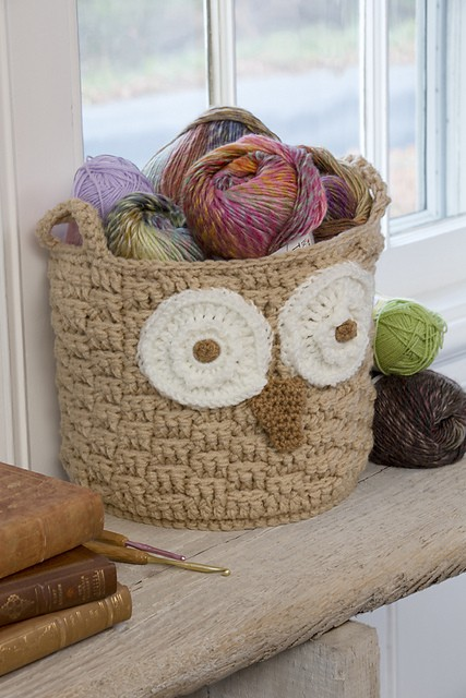 Free Crochet Patterns Owl Basket : [Free Pattern] This Beautiful Hoot Owl Container Is A ...
