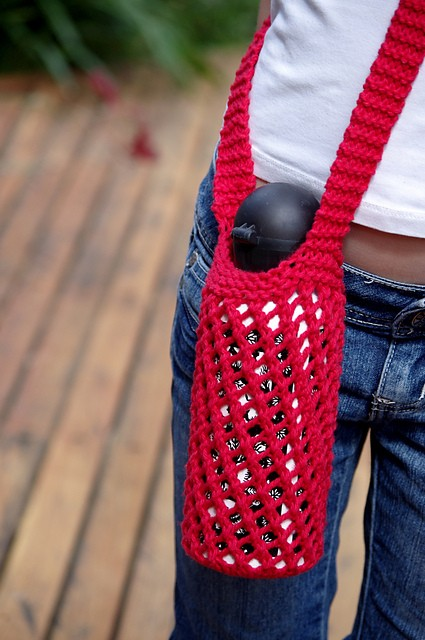 Free Pattern This Knitted Water Bottle Holder Is Perfectly