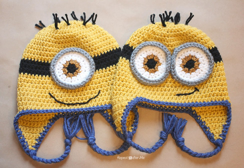 Free Pattern + Video Tutorial] These Crochet Minion Hats Are ...