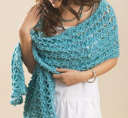 Free Pattern The Perfect Wrap For Cool Summer Evenings