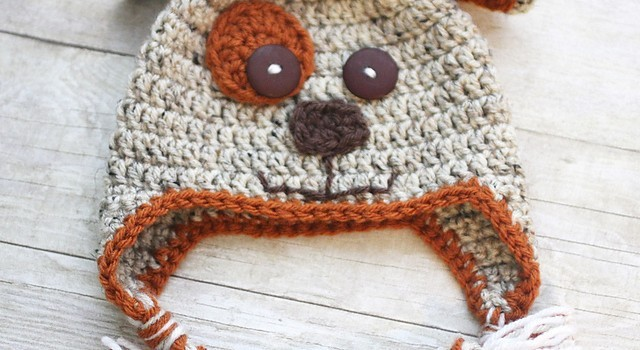 Free Pattern  Kids Will Go Crazy Over This Precious Puppy Dog Hat ... 0641f9ffb5c