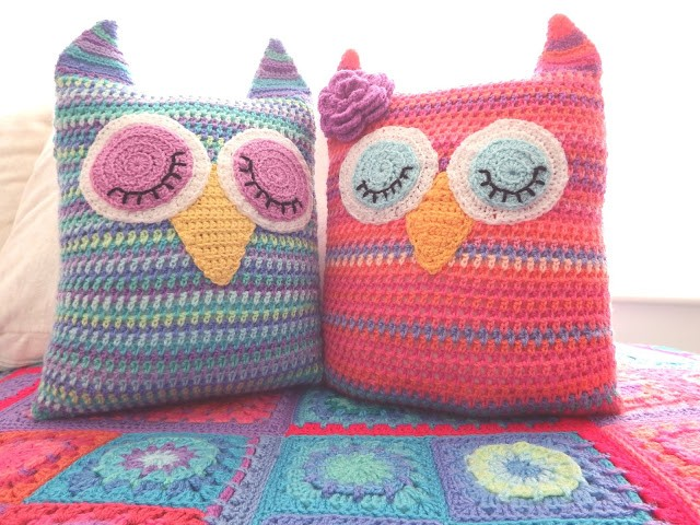 [Free Pattern] Have Fun Making These Cute Owl Pillows In Two Sizes...And More!