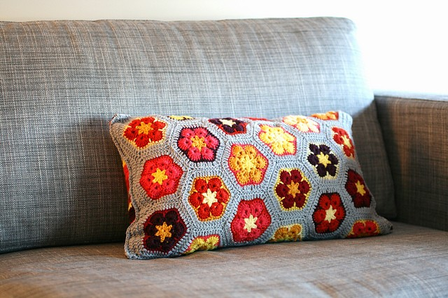 cushion african flowers