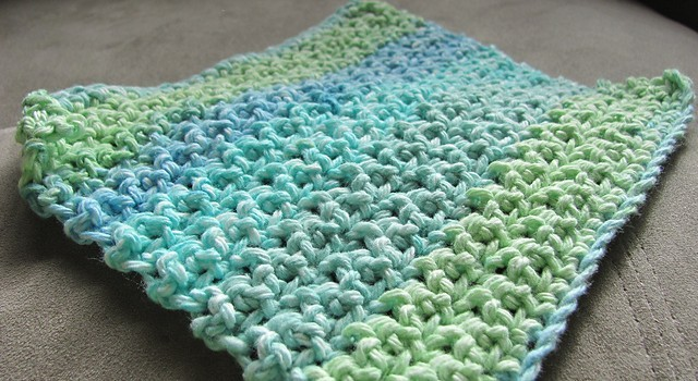 Free Pattern] This Makes A Loose Thinner Dishcloth Than Any Other Beauteous Best Crochet Dishcloth Pattern