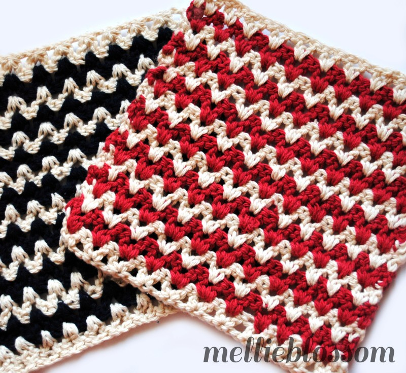[Free Pattern] This Zigzag Dishcloth Is Different Without Turning And Working...