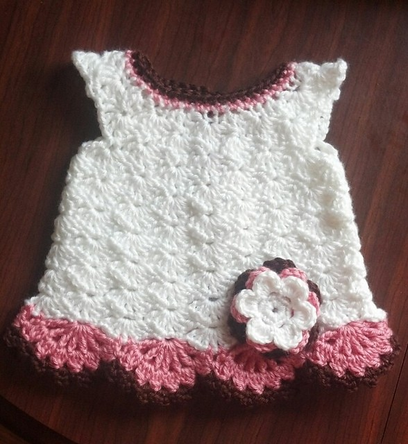 Free Crochet Pattern For Snow White Dress : [Video Tutorial] This Little Dress Pattern Will Touch Your ...