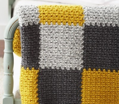 Free Pattern This Crocheted Patchwork Blanket In Modern Colors Will