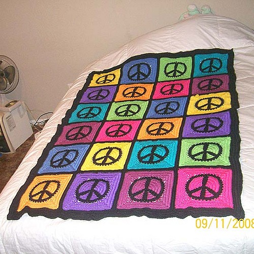 Peace Sign blanket