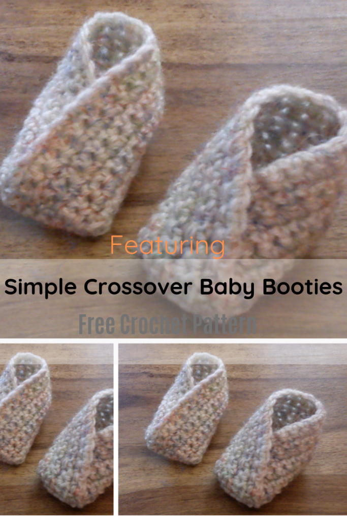 [Free Pattern] What A Wonderful And Simple Design! Simple Crossover Baby Booties Free Crochet Pattern