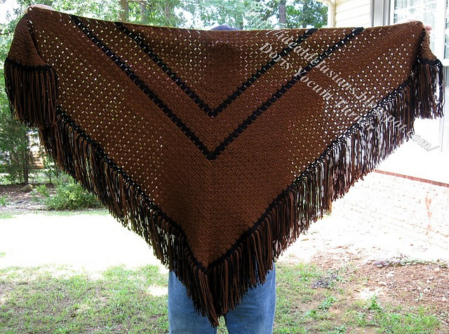 [Free Pattern] A Very Generous Size Shawl For Those Who Dislike Bare Arms And Want Lots Of Coverage