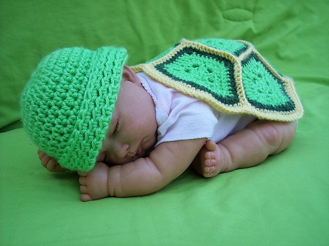 [Free Pattern] Super Cute Turtle Love Blanket & Beanie For ...