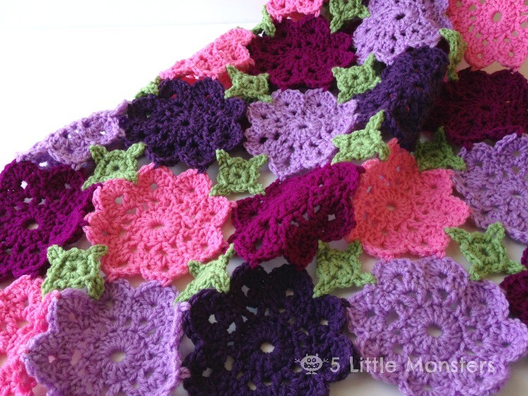 flower crochet baby blanket