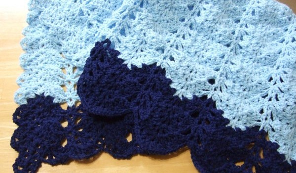 Free Pattern This Lacy V Stitch Ripple Afghan Is Simply Beautiful