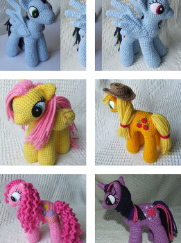 Free Pattern Cute Ponies For Kids Who Love My Little Pony Knit