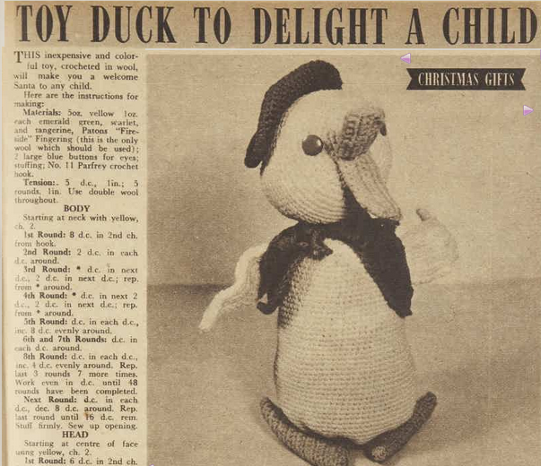 toy duck to delight a child