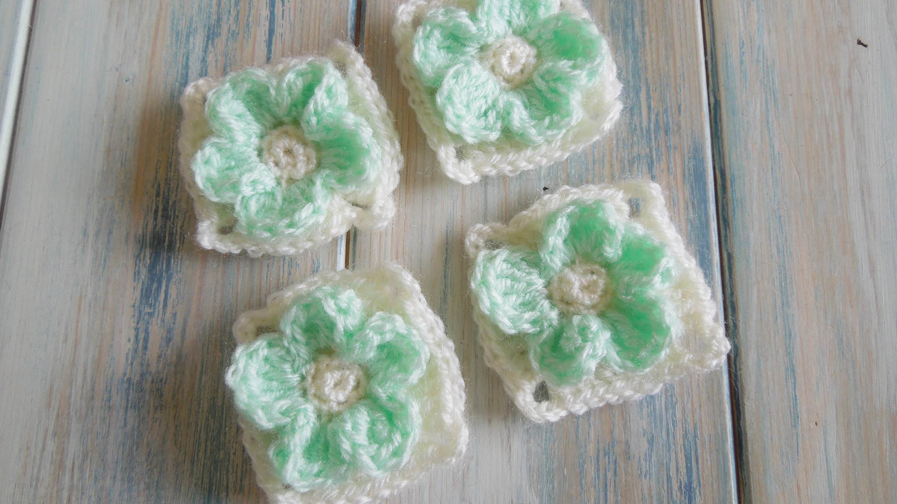 Video Tutorial Precious Small Granny Square With An Embossed Flower