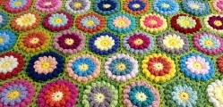 Bobbly Flower Hexagon by Mad Blanketer