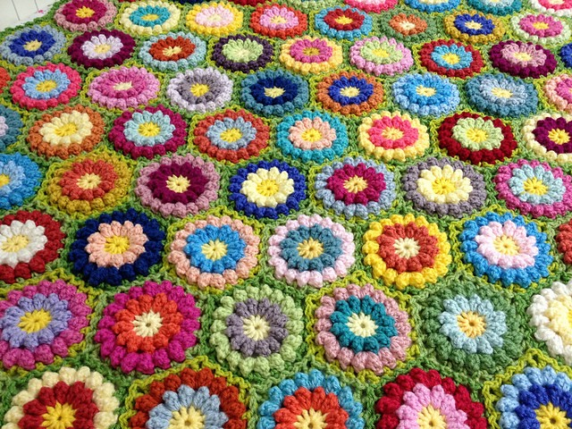 [Free Pattern] This Bobbly Flower Hexagon Was Inspired By ...