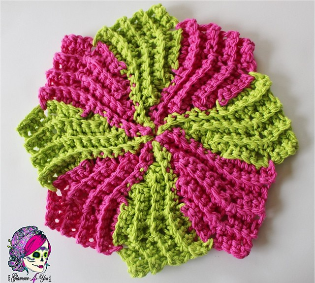 Free Pattern This Circle Point Washcloth Is Simple Sweet