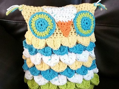 Crochet This Adorable Owl Using Crocodile Stitch Worked In The Round ...