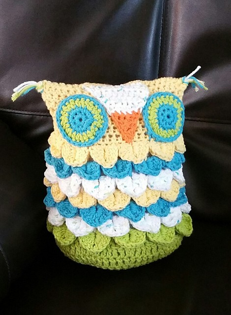 Crochet Knit Stitch In The Round : [N/A] Crochet This Adorable Owl Using Crocodile Stitch Worked In The Round - ...