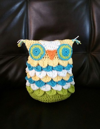 Knit Crocodile Stitch In The Round : [N/A] Crochet This Adorable Owl Using Crocodile Stitch Worked In The Round - ...