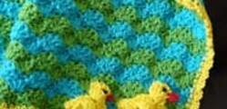 Duck Baby Blanket and Applique by JTcreations