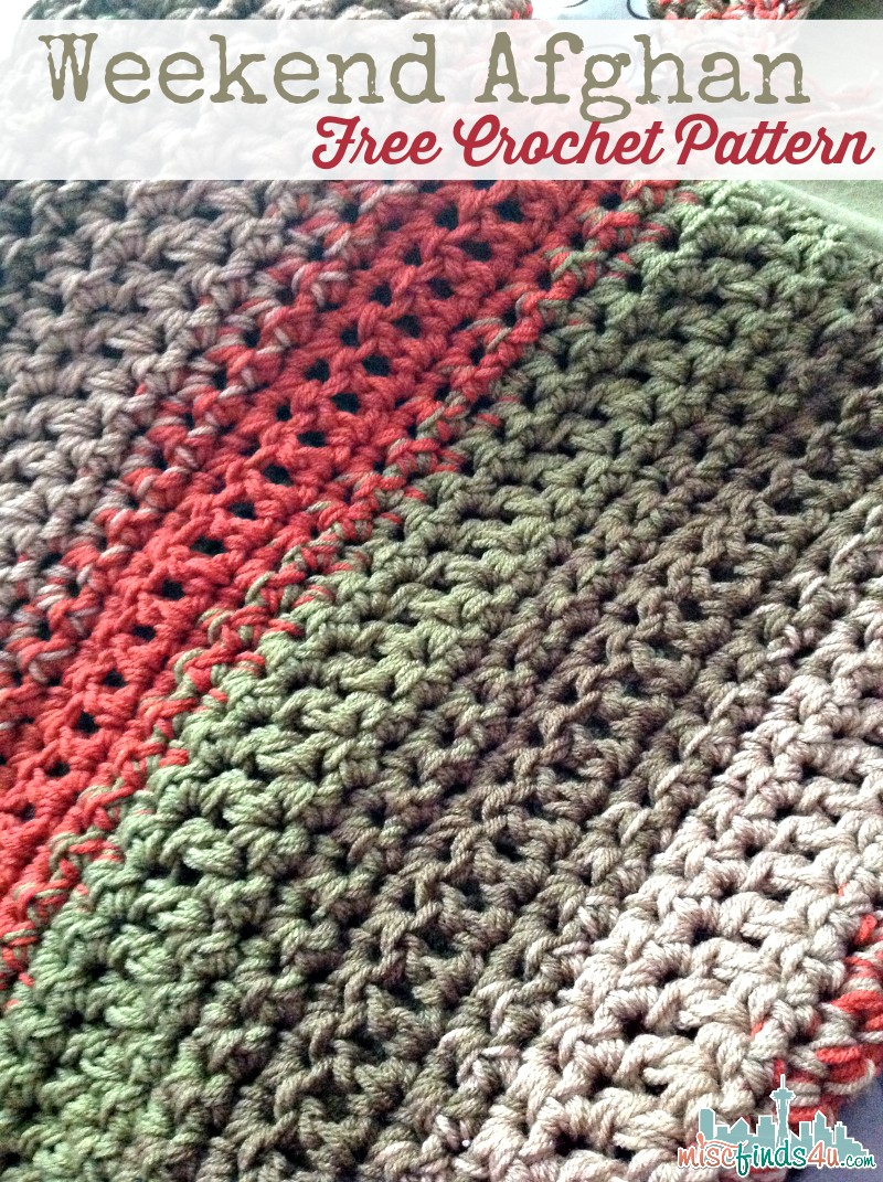Easy Crochet Afghan Patterns For Beginners Free : [Free Pattern] Fast And Easy Weekend Afghan - Knit And ...