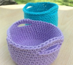 Moroccan Basket Free Crochet Pattern : Home Decor Archives - Page 4 of 8 - Knit And Crochet Daily