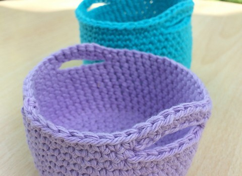 [Free Pattern]These Colourful Little Baskets Are Adorable ...