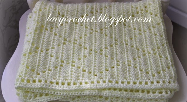 Free Pattern] Super Simple Lacy Diamonds Blanket That Looks ...