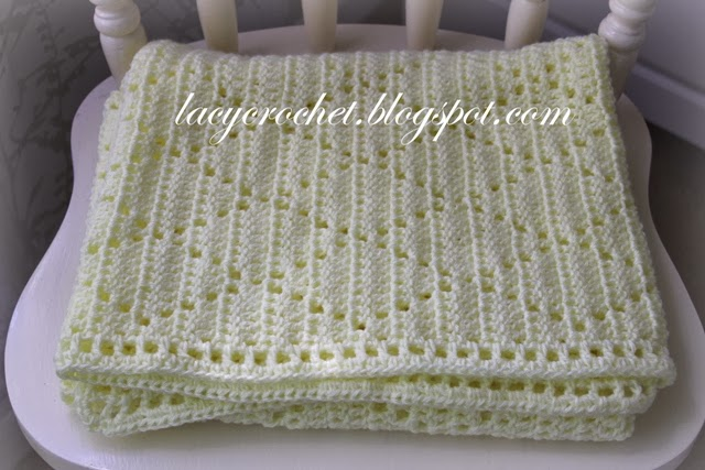 Free Pattern Super Simple Lacy Diamonds Blanket That Looks