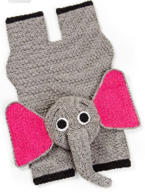 [Free Pattern] Your Toddler Will Love Relaxing On This Adorable Crochet Elephant Rug While Looking At Books, Watching TV Or Even Napping!