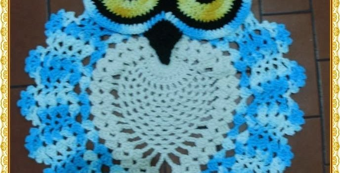 Beautiful Crochet Owl Rug
