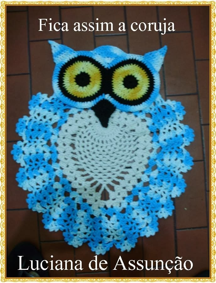 Photo tutorial beautiful crochet owl rug with a twist knit and