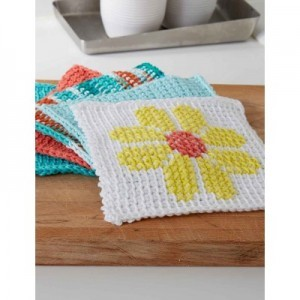 [Free Pattern] This Tunisian Simple Stitch Dishcloth Is The Perfect Intro To Tunisian Crochet