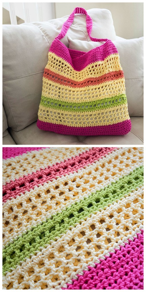 Crochet Tote Bag Free Pattern : Free Pattern] Always Look Your Best At The Beach With This Awesome ...