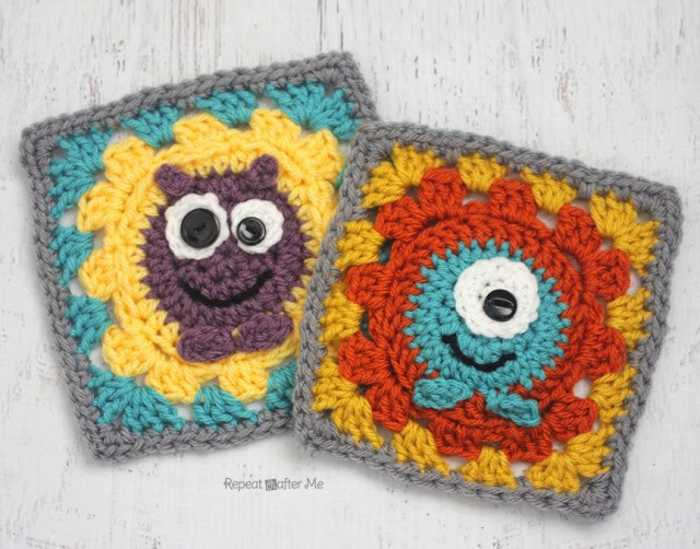 Crochet Monster Granny Squares