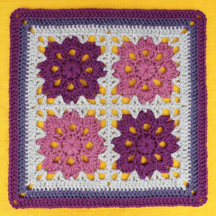 Flowers In The Window Afghan Square